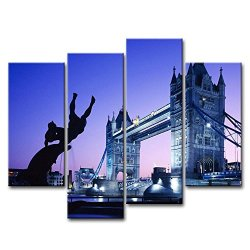 4 Piece Wall Art Painting London Tower Bridge Uk Pictures Prints On Canvas City The Picture Decor Oil For Home Modern Decoration Print