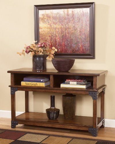 Image of Sofa Table/Console in MediumBrown Finish by