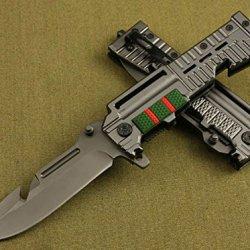 All Black Full Tang Sharp Pocket Folding Skinner Knife Da16-9.25''