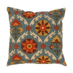 Pillow Perfect Mayan Medallion 16.5-Inch Throw Pillow, Adobe