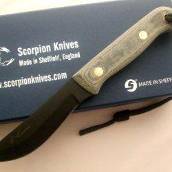 Scorpion Knives Chris Caine Signature Survival Knife Ccsk-2 Black Finish Blade