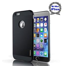 iPhone-6-Plus-Case-iPhone-6s-Plus-Case-Vomach-Armor-Defender-Case-Dual-Layer-Shell-Anti-Scratch-Cover-Shockproof-Tough-Cover-with-Bumper-Best-55-Black