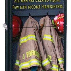 Zippo Matte Fireman Coat Lighter (Black, 5 1/2 X 3 1/2-Cm)