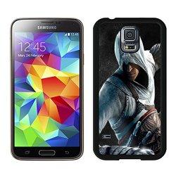 Diy Assassins Creed Desmond Miles Guard Helmet Fist Knife Samsung Galaxy S5 I9500 Black Phone Case