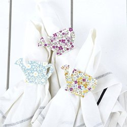 Chelsea Garden Watering Can Napkin Rings - Set Of 6