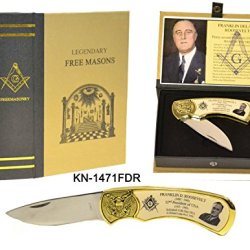 Freemasonry Teddy Roosevelt Masonic Folding Knife New In Box Nib Item # Kn1471Tr