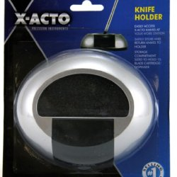 X-Acto Desk Knife Holder, 5.5 X 6.5 Inches, Silver And Black (X2013)