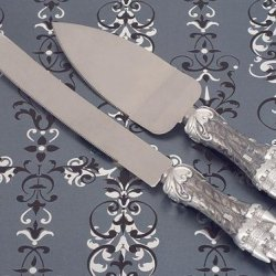 Platinum Castle Collection Cake And Knife Set C1754 Quantity Of 1