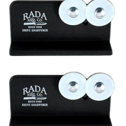Rada Cutlery Quick Edge Knife Sharpener With Hardened Steel Wheels (Pack Of 2 - R119/2)