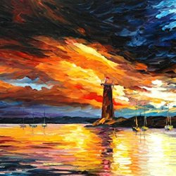 Palette Knife Canvas For Home Decoration,Before A Storm Wall Art 24 X 30 In Unframed