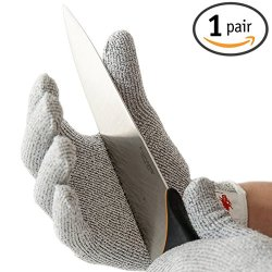 Nocry Cut Resistant Gloves - High Performance Level 5 Protection, Food Grade, Size Medium-Large. Free Ebook Included!