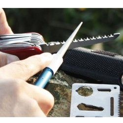 Sharpening Rod, Foldable Knife, Fishhook Sharpening Rod With Aluminum Alloy Handle, Diamond Rod(T0905D)(From Taidea)