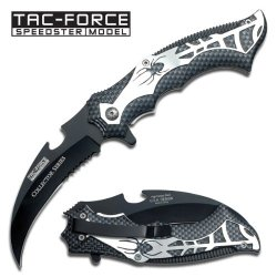 """Collector Series Black Spider Folding Knife 4 3/4"""" Closed"""