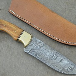"Christmas Gift By Leather-N-Dagger | Professional High Quality Custom Handmade Damascus Steel Model-Year 2015 9.25"" Hunting Knife (100% Satisfaction Guaranteed) Great Gift Ld203"