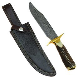 Pony Express Silver Trail Knife - Damascus Forged Steel 1095 High Carbon