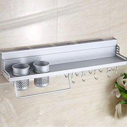 Vktech® Multi-Functional Kitchen Storage Shelf Knife Fork Seasoning Rack Wall Shelf