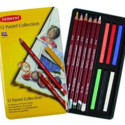 Derwent Pastel Collection, Metal Tin, 12 Count (0700300)