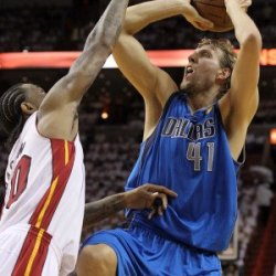 Dallas Mavericks V Miami Heat - Game Six, Miami, Fl - June 12: Dirk Nowitzki Photographic Poster Print By Ronald Martinez, 8X12