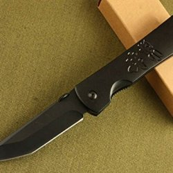 Black Tactical Folding Survival Pocket Knife Glby-7.95''
