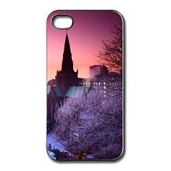Funny Slim Case Winter Home Apple Iphone 4S Cover