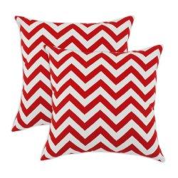 Breezy Chevron Cherry Indoor-Outdoor Accent 17 Inch Throw Pillows (Set Of 2)
