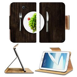Green Grapes Fork Knife Dish Samsung Galaxy Note 8 Gt-N5100 Gt-N5110 Gt-N5120 Flip Case Stand Magnetic Cover Open Ports Customized Made To Order Support Ready Premium Deluxe Pu Leather 8 7/16 Inch (215Mm) X 5 11/16 Inch (145Mm) X 11/16 Inch (17Mm) Luxlady