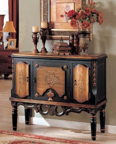 Image of Console Table Golden and Black Finish (VF_AZ00-42177x21896)