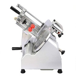 """Itemplazza Food And Meat Slicer 10"""" Blade Electric Food Slicer Commercial Electricl Butcher Equipment Food Meat Chopper Deli Meat Cutter High Efficiency And Durable Fashion Tilted Design For Fast And Laborsaving Slicing"""