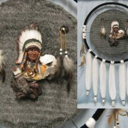 24In Mandala Native American Chief Eagle Dream Catcher