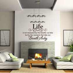 A Life Breath Quote Lettering Words Motto Poem Vinyl Wall Decals Mural Sticker[Top-Me] 8048