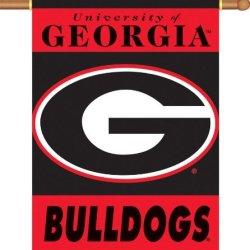 "Georgia Bulldogs 2-Sided 28"" X 40"" Banner W/ Pole Sleeve"
