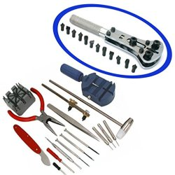 Se Toolstm 16 Pcs Watch Tool Kit Plus Adjustable Watch Wrench All In One