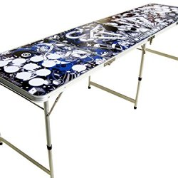 Tattoo Portable Beer Pong Table No Holes