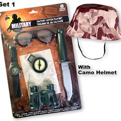 Military Action Playset With Camo Helmet