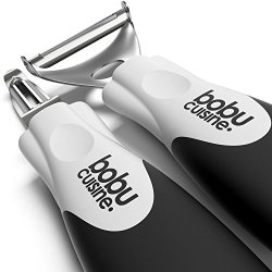 Bobucuisine Super Peelers - Stainless Steel Double-Edged Blades - Triple Your Peeling Speed - Pack Of 2