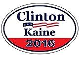 """Bumper Sticker - Hillary Clinton Tim Kaine - 2016 Campaign Sticker - Vote Democrat! - 6"""" x 4"""" Decal"""