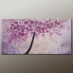 Large Painting Original Art Abstract Flower Tree Painting Vivid Color Acrylic Painting Original Contemporary Artwork Impasto Texture Palette Knife Impressionism Wall Art Fine Art Signed Handmade By Artist