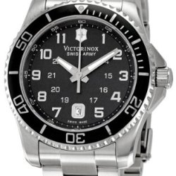 Victorinox Swiss Army Men'S 241436 Maverick Stainless Steel Black Dial Watch