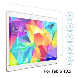 Boriyuan Tab S 10.5 Screen Protector, [Tempered Glass Protection] Ultra Slim Crystal Clear Premium Tempered Glass Screen Protector For Samsung Galaxy Tab S 10.5 Inch Tablet T800 T805 - Brand New In Retail Package, Comes With A Micro Fiber Cleaning Cloth +
