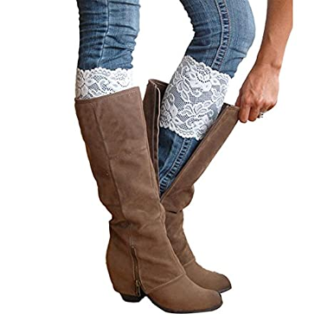 """* Style:Boot Cuffs * Color:A,B,C,D,E,F,G,H,I,J,K,L * Material:Lace * Size:Leg circumference:28*15cm/11.02*5.91"""" * Our leg warmers are any boot's best friend. * We love them with rain or ankle-length boots. * You can Pair them with tights, leggi..."""