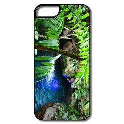 Art Waterproof Green Leaf Cell Phone 5S Case