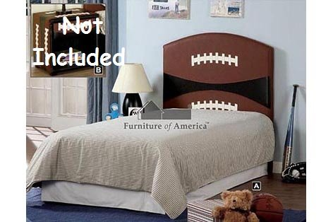 Image of Kid Youth Football Twin Size Headboard (CM7103-FBLL)