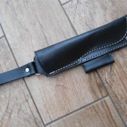 Bargain! Leather Bushcraft 'Dangler' Style Sheath For 'Woodlore' Style Knives Or Moras - With Firesteel Slot. New!