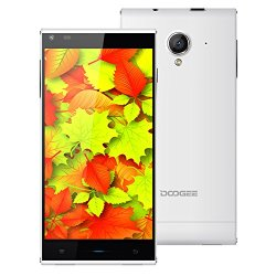 Doogee Dagger Dg550 5.5 Inch 3G Smartphone Android 4.4 Mtk6592 Octa-Core 1.6Ghz 1Gb+16Gb Dual Sim Dual Camera Bluetooth 4.0 Wifi Gps (White)