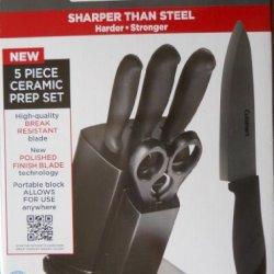 Cuisinart Elite Collection 5 Piece Ceramic Prep Set With Knife Block