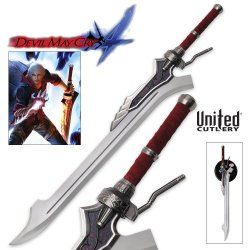 United Cutlery Uc2596 Devil May Cry 4 Red Queen Sword Of Nero With Stand