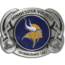 Nfl Pewter Belt Buckle - Minnesota Vikings Nfl Pewter Belt Buckle - Minnesota Vikings