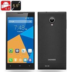 Doogee Dagger Dg550 Android 4.4 Phone - 13 Mp Rear Camera, Octa Core Mtk6592 1.7 Ghz, Ips Hd Ogs Screen (Black)