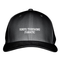 Knife Throwing Fanatic Sport Embroidered Adjustable Structured Hat Cap Black