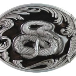 Hogar Mens Zinic Alloy Western Belt Buckle Snake Buckles Color Black